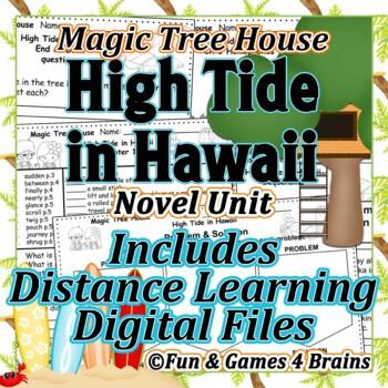 Magic Tree House - High Tide in Hawaii Novel Unit -Vocab,Comp,Assess