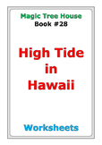 "Magic Tree House ""High Tide in Hawaii"" worksheets"