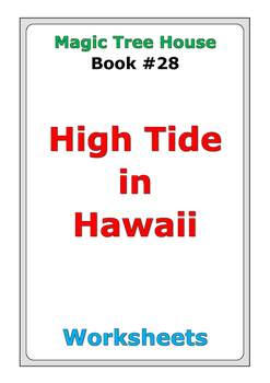 "Magic Tree House ""High Tide in Hawaii"" worksheets"