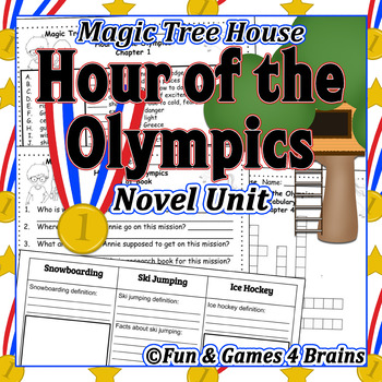 Magic Tree House - Hour of the Olympics Novel Unit -Vocab,comprehension,research