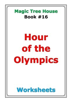 """Magic Tree House """"Hour of the Olympics"""" worksheets"""