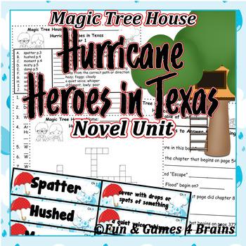 Magic Tree House - Hurricane Heroes in Texas Novel Unit-Vocab, comprehension