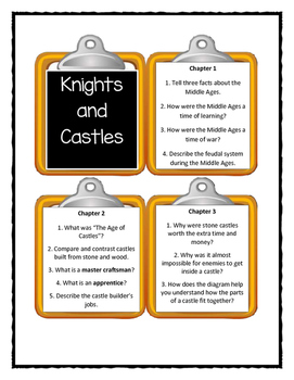 Magic Tree House KNIGHTS AND CASTLES Fact Tracker - Discussion Cards