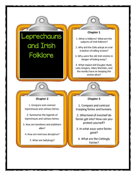 Magic Tree House LEPRECHAUNS AND IRISH FOLKLORE Fact Tracker - Discussion Cards