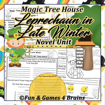Magic Tree House Leprechaun in Late Winter Novel Unit