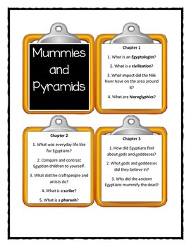 Magic Tree House MUMMIES AND PYRAMIDS Fact Tracker - Discussion Cards