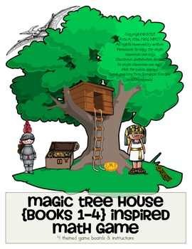 Magic Tree House Math Game Board Set By Wild About School Tpt