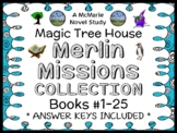 Magic Tree House Merlin Mission COLLECTION: 25 Novel Studies for Books #29 - #53