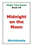 """Magic Tree House """"Midnight on the Moon"""" worksheets"""