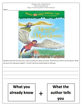 Magic Tree House Monday With a Mad Genius Comprehension Novel Study!