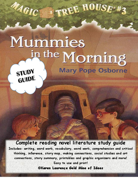 Magic Tree House Mummies in the Morning #3 ELA Novel Reading Study Guide
