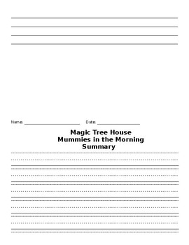 Magic Tree House: Mummies in the Morning Research Project