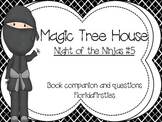 Night of the Ninjas #5 Magic Tree House Book companion