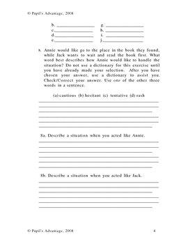 Magic Tree House Night of the Ninjas Novel Study and Worksheet