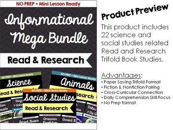 Informational Book Study Bundle: Magic Tree House Nonfiction Fact Trackers