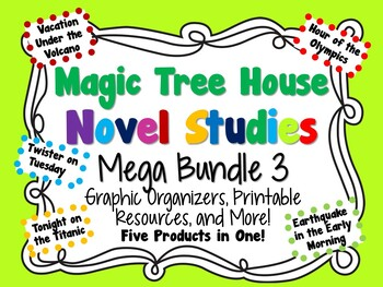 Magic Tree House Novel Studies Mega Bundle 3