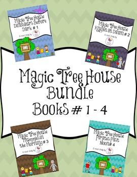 Magic Tree House Novel Study Bundle Books # 1 - 4