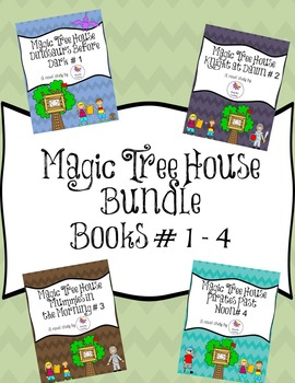 Magic Tree House Novel Study Bundle Books # 1 - 4