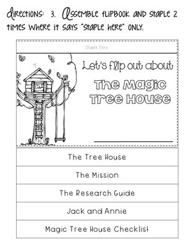 Magic Tree House Unit for ANY Book PLUS Flip Books