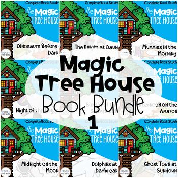 Magic Tree House Guided Reading Novel Unit Bundle 1-10