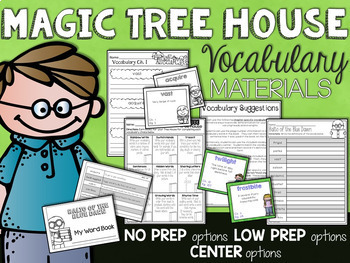 Magic Tree House Bundle 1-10 Guided Reading Novel Unit