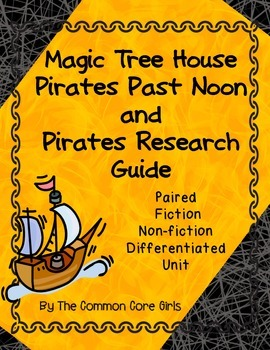 Pirates- Magic Tree House: Differentiated Comprehension Re