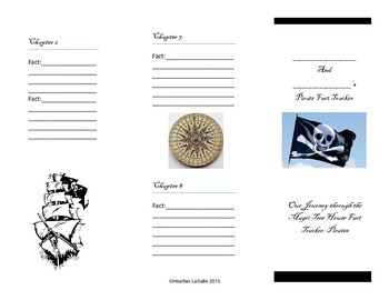 """Magic Tree House """" Pirates Fact Tracker"""" Lesson Plans and Graphic Organizer"""