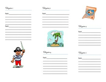 "Magic Tree House "" Pirates Fact Tracker"" Graphic Organizer with Lesson Plans"