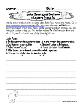 Magic Tree House Polar Bears Past Bedtime Comprehension Book Plan