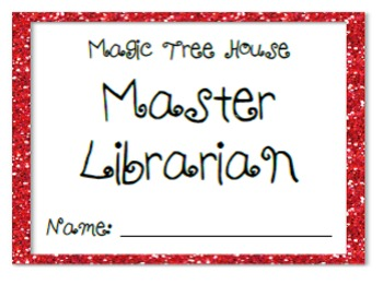 Magic Tree House Printable Master Librarian Cards