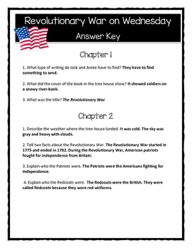 Magic Tree House REVOLUTIONARY WAR ON WEDNESDAY - Comprehension/Citing Evidence