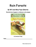 Magic Tree House...Rain Forests...A Literature Study