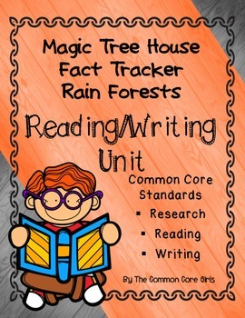 Rain Forests-Magic Tree House: Reading/Writing Common Core Activity