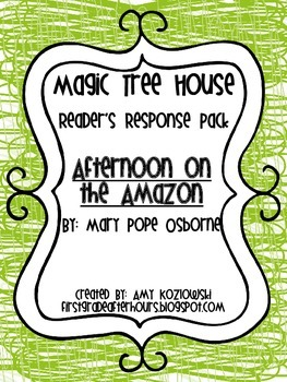Magic Tree House Reader's Response Pack: Afternoon on the Amazon