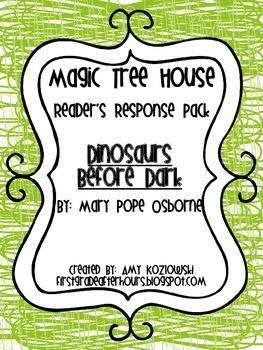 Magic Tree House Reader's Response Pack: Dinosaurs Before Dark