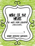 Magic Tree House Reader's Response Pack: Night of the Ninjas