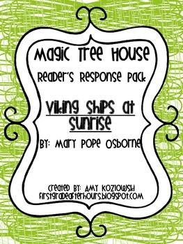 Magic Tree House Reader's Response Pack: Viking Ships at Sunrise