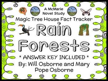 Magic Tree House Fact Tracker: Rain Forests Book Study / Reading Comprehension