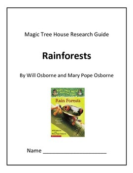 Magic Tree House Research Guide Rainforest