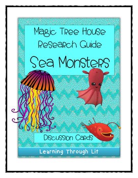 Magic Tree House SEA MONSTERS Fact Tracker - Discussion Cards