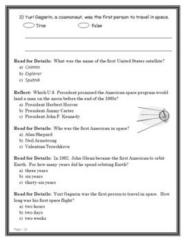 Magic Tree House Fact Tracker: Space (Osborne) Book Study / Comprehension