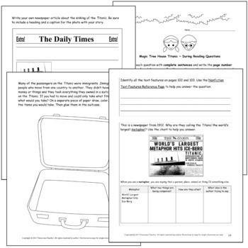 Magic Tree House Research Guide: Titanic Nonfiction Novel Study