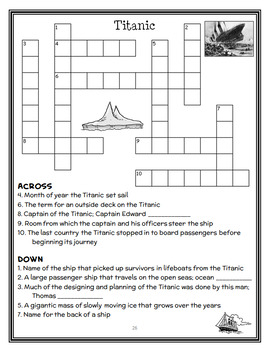 Magic Tree House Fact Tracker: Titanic (Will and Mary Osborne) Book Study