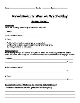 Magic Tree House Revolutionary War on Wednesday Book Unit