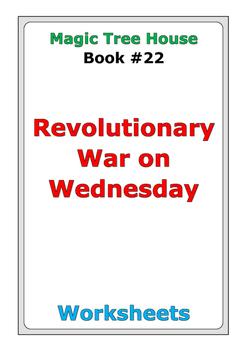"Magic Tree House ""Revolutionary War on Wednesday"" worksheets"