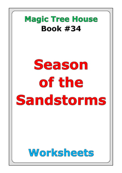 """Magic Tree House """"Season of the Sandstorms"""" worksheets"""
