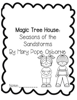 Magic Tree House Seasons of the Sandstorm Comprehension/Guided Reading Packet