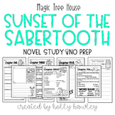 Magic Tree House: Sunset of the Sabertooth A Magic Tree House Activity