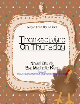 Magic Tree House- Thanksgiving on Thursday