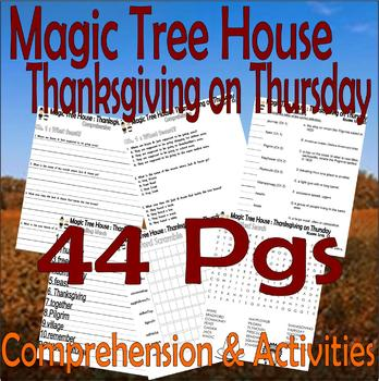 Magic Tree House : Thanksgiving on Thursday : Comprehension Book Companion Pack